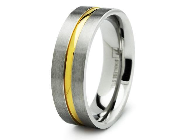 Two Tone Stainless Steel Ring