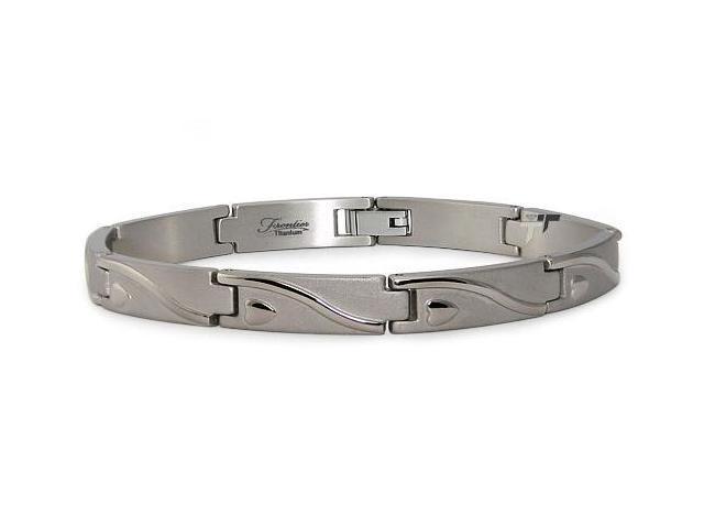 Titanium Heart Link Bracelet
