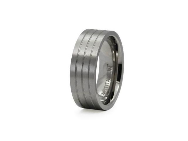 Titanium Wide Flat Band