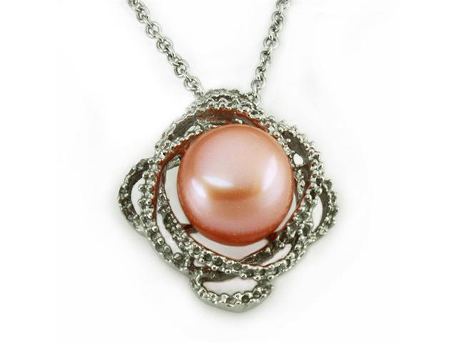 Pearl Pendant in Flower Design