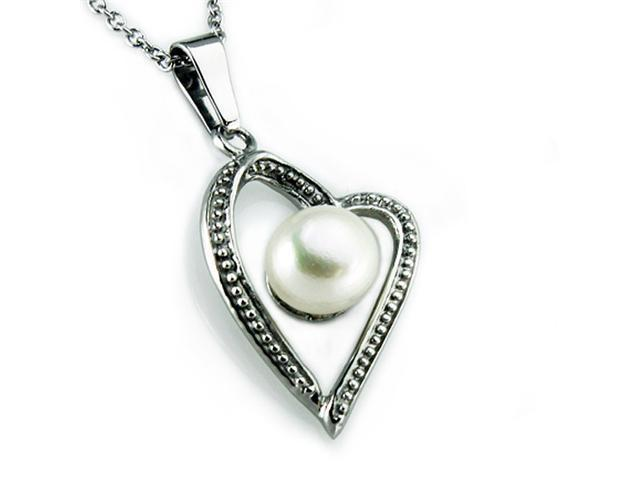 Pearl in Artform Styled Heart Pendant