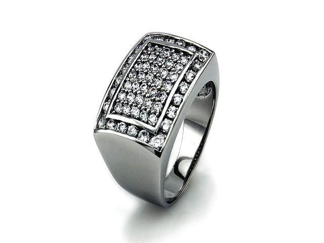 Silver Men's Ring w/ Cubic Zirconia