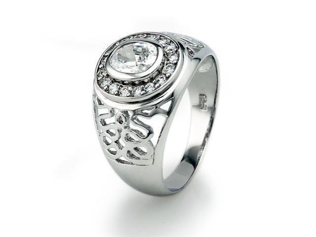 Sterling Silver Men's Ring w/ CZ