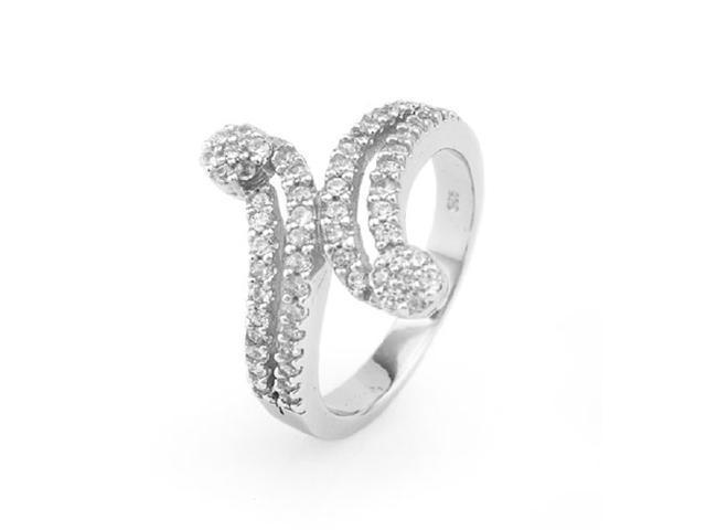 Sterling Silver Ladies Ring w/ Cubic Zirconia