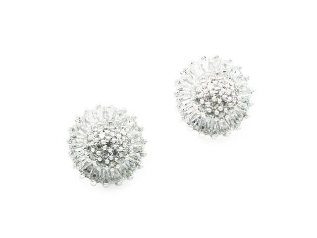 Sterling Silver Dandelion Stud Earrings