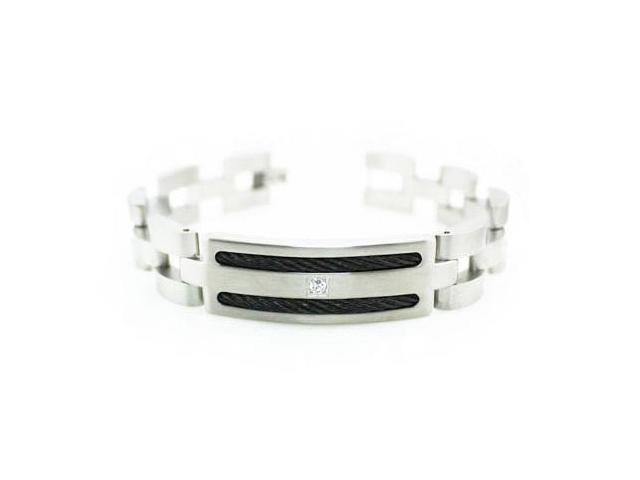 Men's Stainless Steel ID Bracelet 8.5