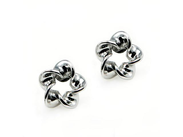 Sterling Silver Twisted Earrings