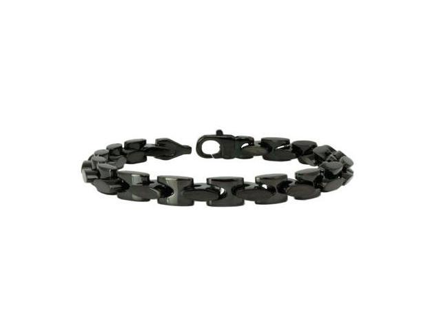 Black Stainless Steel Mariner Bracelet 9""