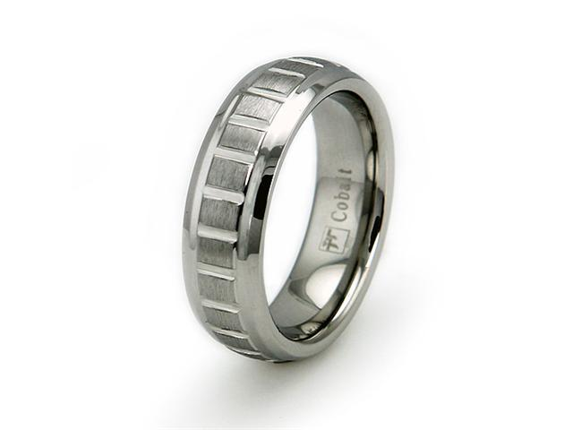 Cobalt Chrome Groove Ring