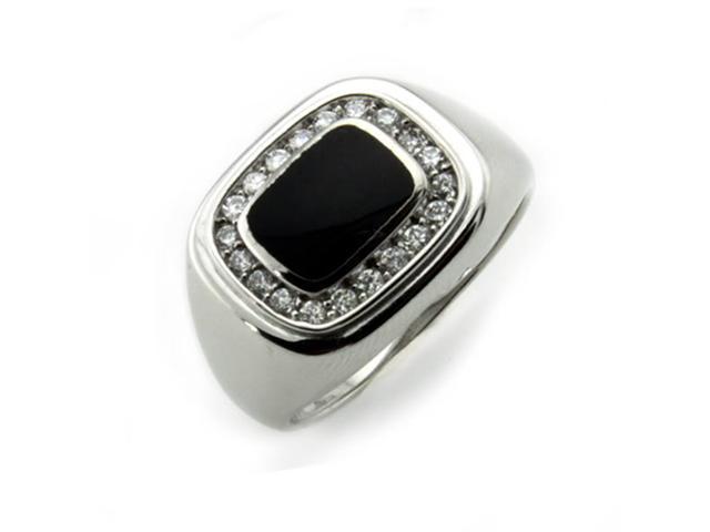 Sterling Silver Men's Ring w/ Onyx