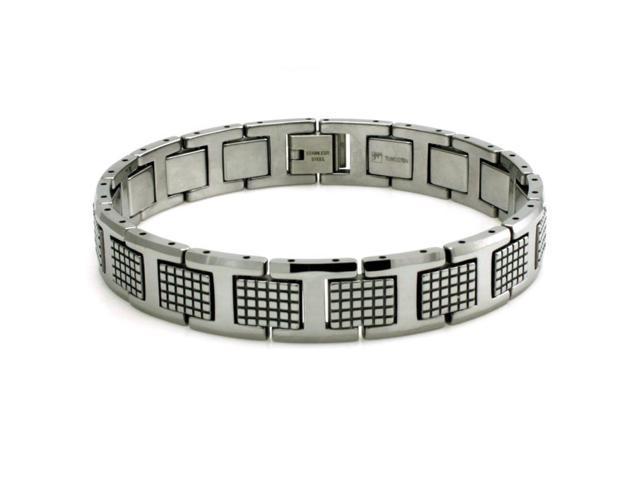 Tioneer B10054 Tungsten Carbide Polished Commando Link Bracelet