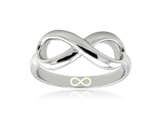 Sterling Silver Infinity Symbol Engraved Infinity Ring Newegg