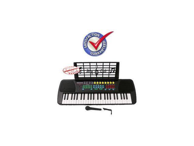 Children 49 Keys Electronic Piano Music Keyboard Black KB49
