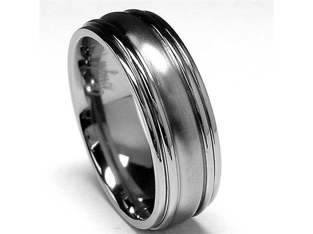 High polish / Matte finish Titanium ring Wedding band
