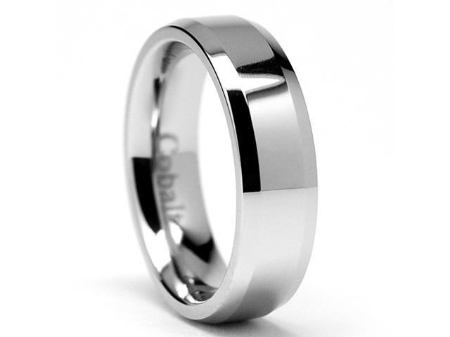 6MM High Polish Men's Cobalt Chrome Ring Wedding Band