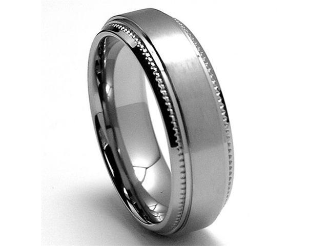 6MM Miligrained Titanium Ring Wedding Band jewelry