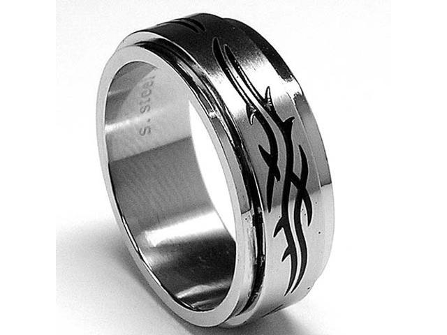 Barbwire Stainless Steel Spinner Ring