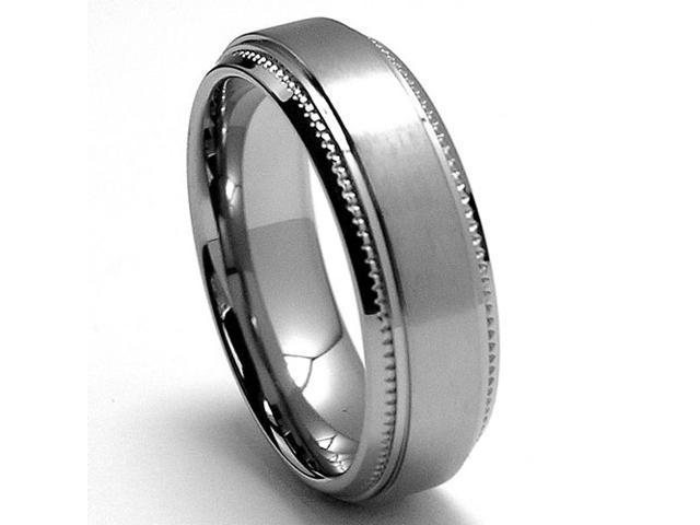 6MM Miligrained Titanium Ring Wedding Band jewelry