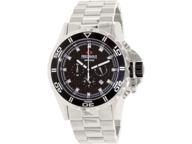 Precimax Carbon Pro PX12201 Men's Black Dial Stainless Steel Quartz Chronograph Watch