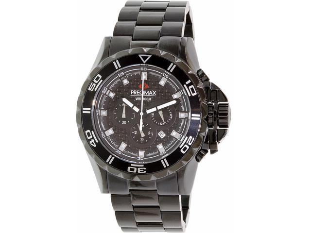 Swiss Precimax PX12202 Men's Carbon Pro Black Stainless-Steel Quartz Watch