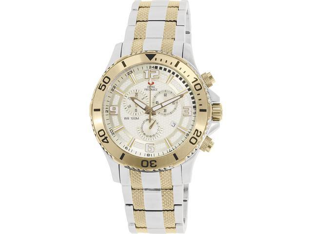 Swiss Precimax SP13071 Tarsis Pro Men's Two-Tone Stainless-Steel Chronograph Watch with Gold Dial