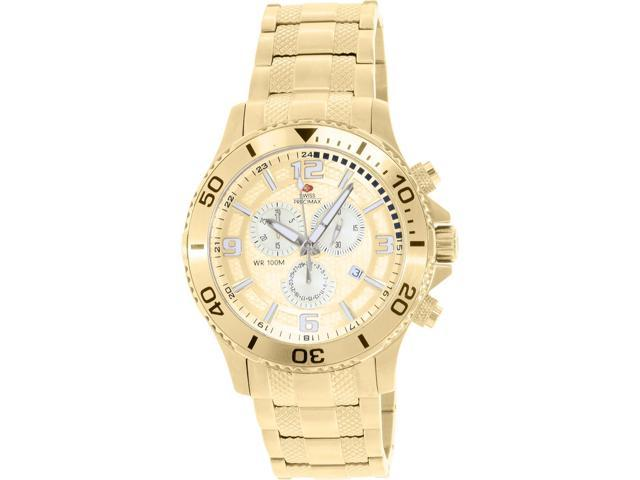 Swiss Precimax SP13065 Tarsis Pro Men's Gold Stainless-Steel Chronograph Watch with Gold Dial