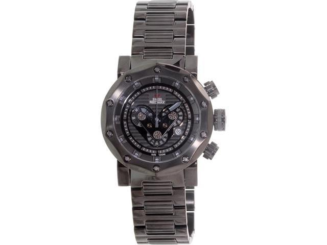 Swiss Precimax Men's Vector Pro SP13094 Stainless Steel Chronograph Watch (Black)