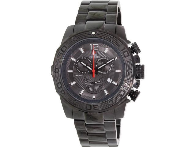 Swiss Precimax Legion Pro SP13265 Men's Black Stainless-Steel Swiss Chronograph Watch with Black Dial