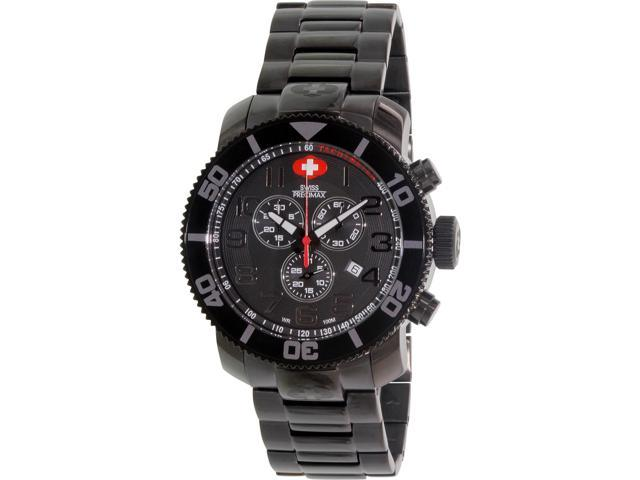 Swiss Precimax Men's Verto Pro SP13033 Black Stainless-Steel Swiss Chronograph Watch with Black Dial
