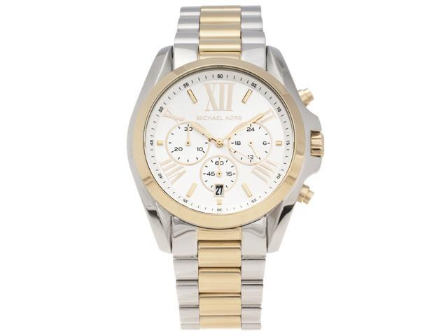 Michael Kors Women's Bradshaw MK5627 White Stainless-Steel Analog Quartz Watch