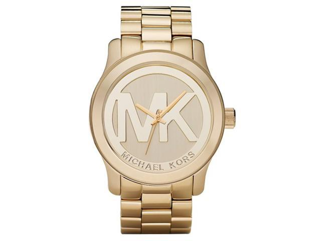 Michael Kors MK5473 Large Runway Gold Tone Logo Women's Watch