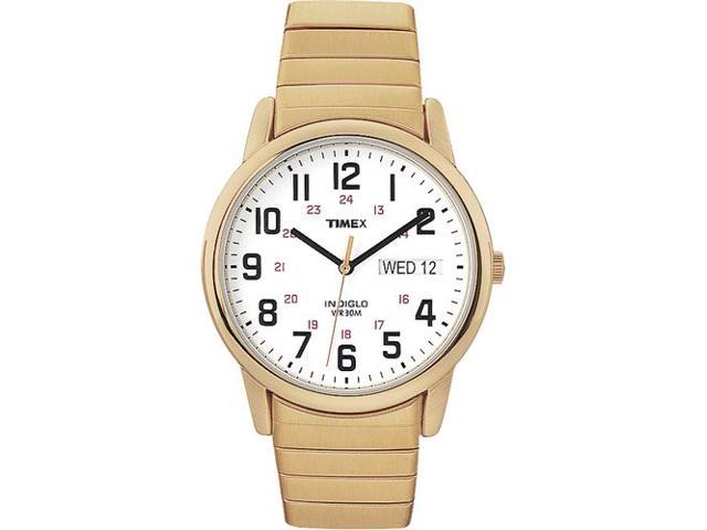 Timex Men's T20471 Gold Gold Tone Quartz Watch with White Dial