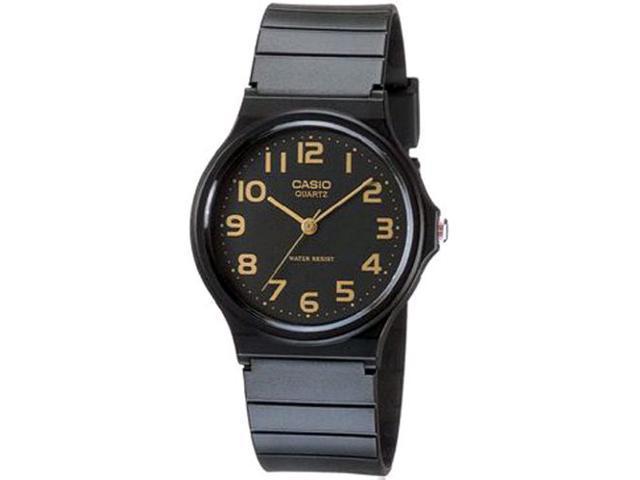 Casio Men's MQ24-1B2 Black Rubber Quartz Watch with Black Dial