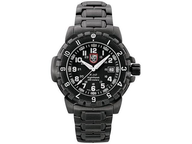 Luminox Men's 6402 Black Stainless-Steel Analog Quartz Watch with Black Dial