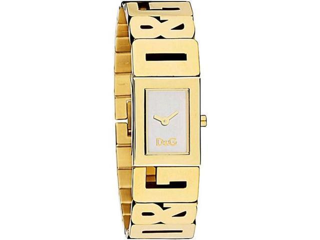 Dolce & Gabbana Women's SHOUT DW0290 Gold Stainless-Steel Quartz Watch with White Dial