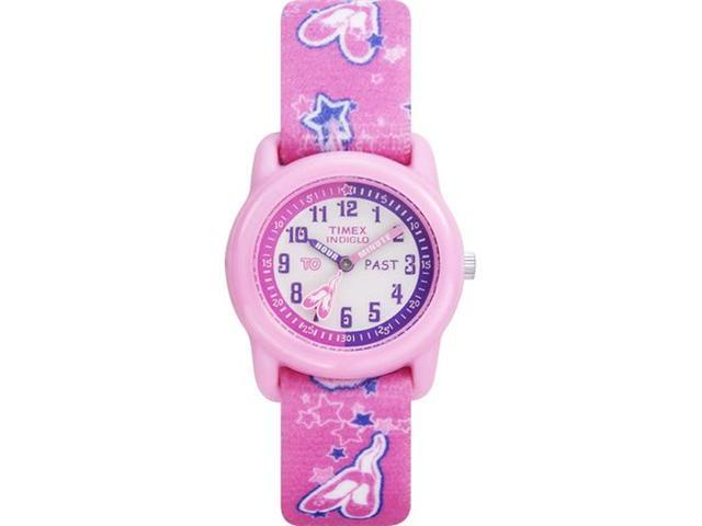 Timex Children's T7B151 Pink Cloth Quartz Watch with Pink Dial