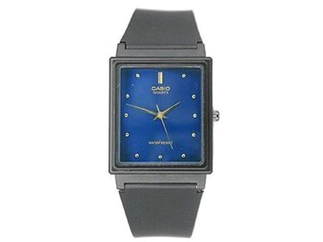 Casio Men's Classic Analog MQ38-2A Black Resin Quartz Watch with Blue Dial