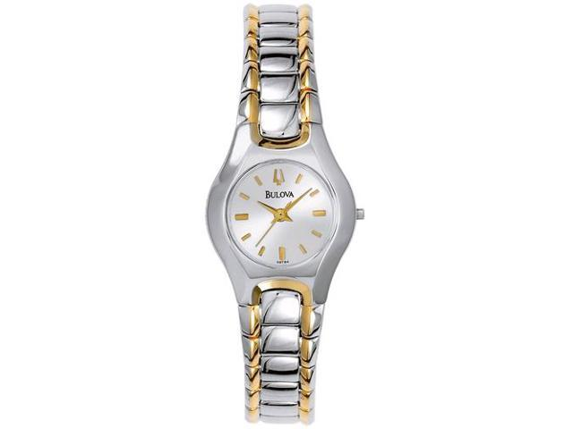 Bulova Women's 98T84 Silver Brass Quartz Watch with Silver Dial