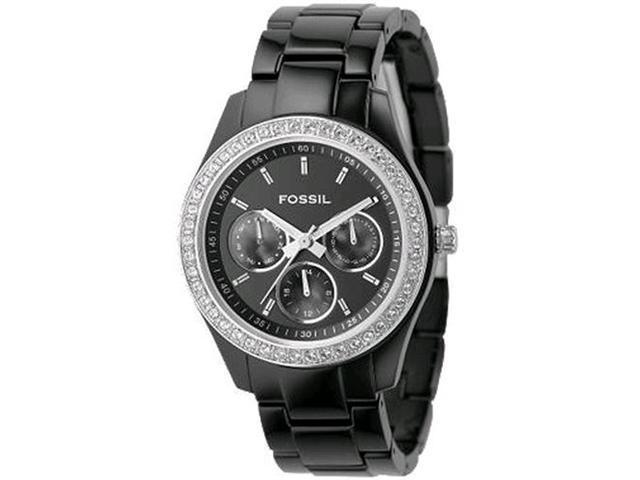 Fossil Stella Day/Date Display Quartz Black Dial Ladies Watch ES2157