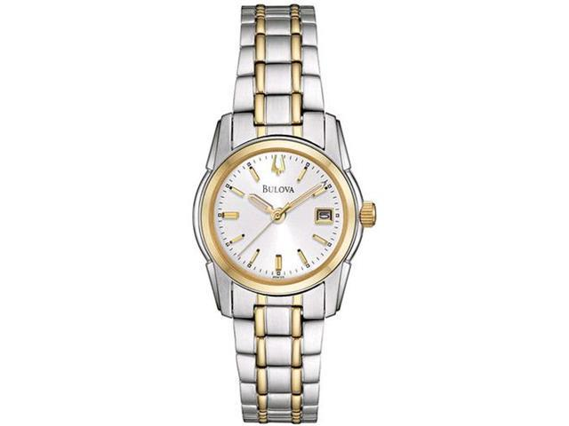 Bulova Women's 98M105 Silver Stainless-Steel Quartz Watch with Silver Dial
