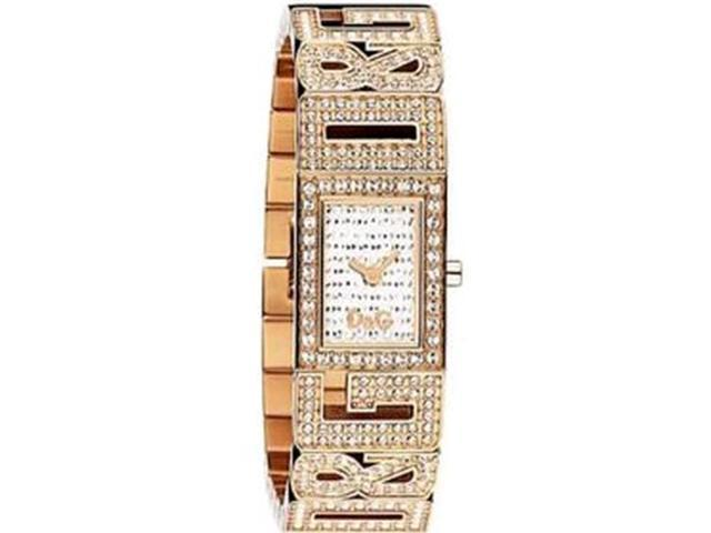 Dolce & Gabbana Women's DW0288 Gold Gold Tone Stainles-Steel Quartz Watch with White Dial