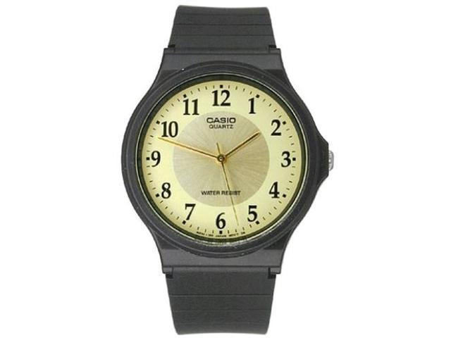 Casio Men's Analog Display MQ24-9B3 Black Resin Quartz Watch with White Dial