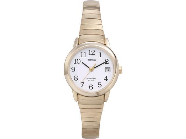 Timex Women's | Gold-Tone Case Round Case & Indiglo | Vintage Style Watch T2H351