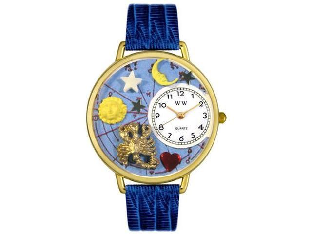 Scorpio Royal Blue Leather And Goldtone Watch #G1810011
