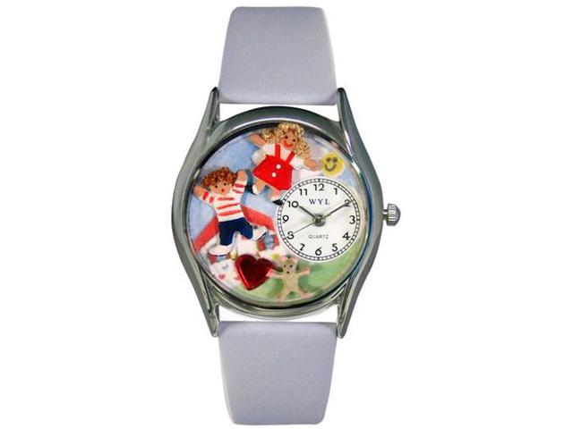 Day Care Teacher Red Leather And Silvertone Watch #S0640007