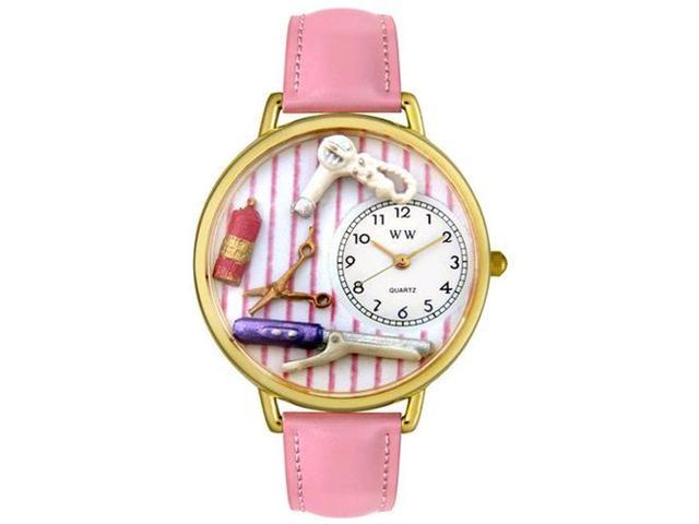 Beautician Female Pink Leather And Goldtone Watch #G0630001