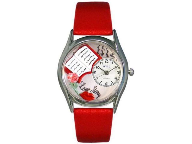 Love Story Red Leather And Silvertone Watch #S0450001