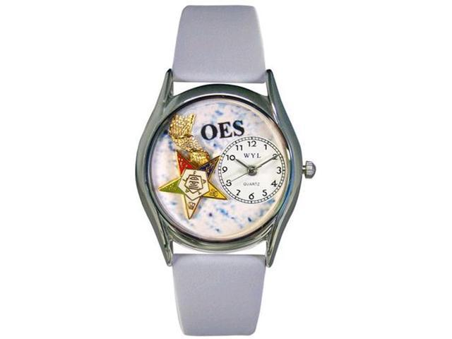 Order of the Eastern Star Baby Blue Leather And Silvertone Watch #S0710008