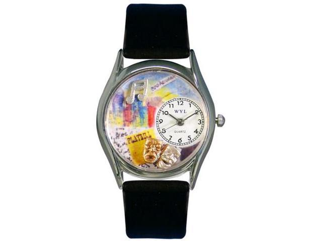Drama Theater Royal Blue Leather And Silvertone Watch #S0420003