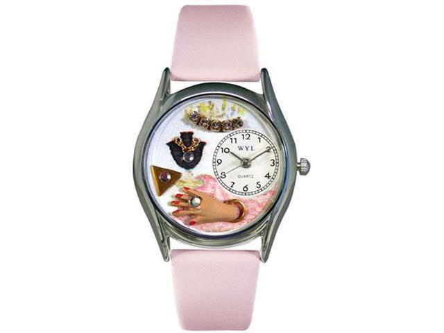 Jewelry Lover Pink Pink Leather And Silvertone Watch #S0910013